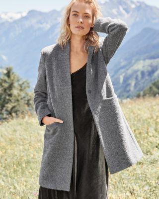 Alpaca & Wool Textured Coat by Garnet Hill