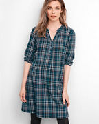 Plaid Popover Dress
