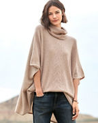 Cashmere Pointelle Sweater Cape