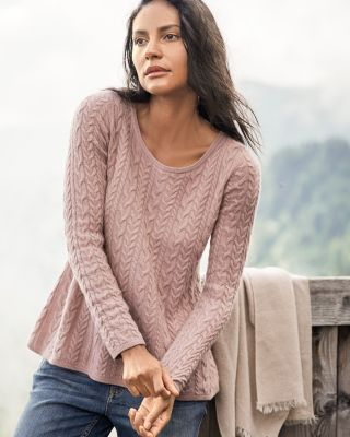 Cashmere Trapeze Sweater by Garnet Hill