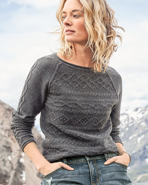 5e8fab36a Cable-Detail Pullover