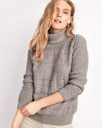 Alpaca Textured-Stitch Turtleneck Sweater