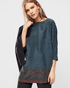 Three-Quarter-Sleeve Silk Tunic