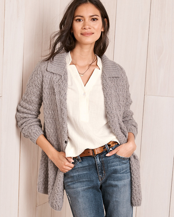 Alpaca Sweater Coat Garnet Hill