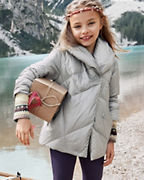 Girls' Shawl-Collar Puffer Coat