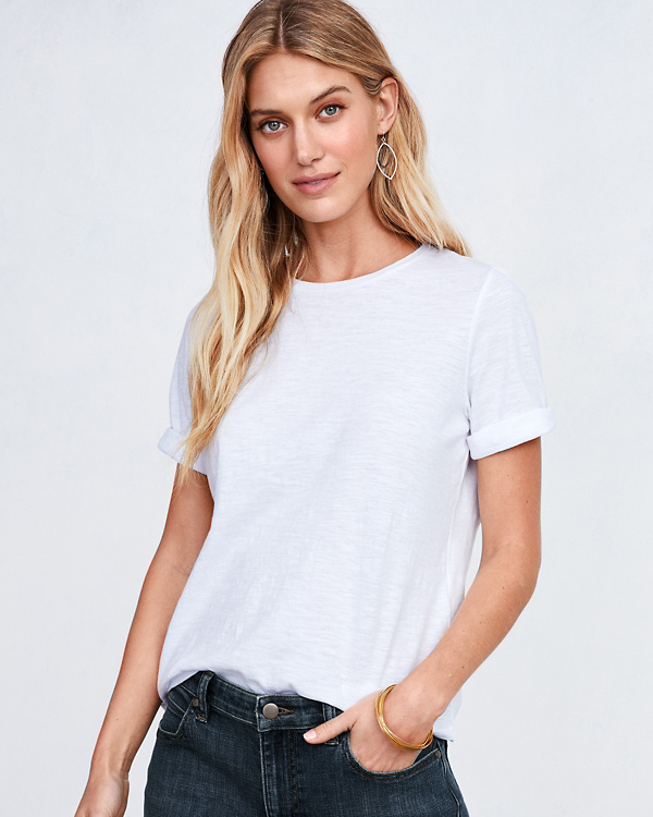 7fa57ac3a83 EILEEN FISHER Organic-Cotton Elbow-Sleeve Tee - Regular