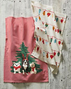 Garnet Hill Holiday Tea Towel Sets