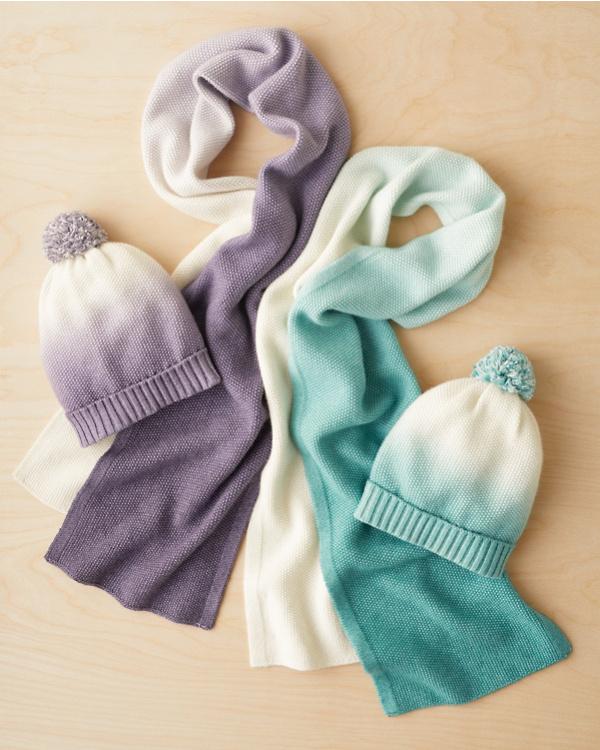 a7b67e83c9 Girls' Cashmere & Cotton Dip-Dye Hat
