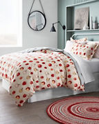 Paintbrush Apple Flannel Bedding