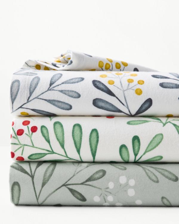 fbb71c7a6 Winterberry Organic-Cotton Flannel Cases
