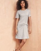 Cinched-Waist Knit Dress