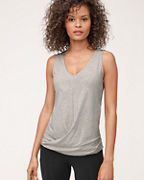 Organic-Cotton Twist-Front Tank