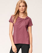 Organic-Cotton Twist-Neckline Top