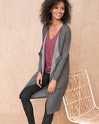 Reversible Long Cardigan