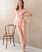 Organic-Cotton Peplum Pajamas