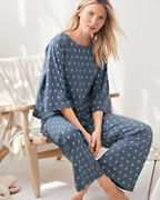 Organic-Cotton Cropped Boxy Pajamas