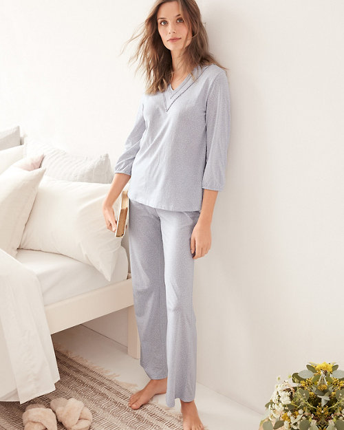 Lace-Detail Organic-Cotton Pajamas d74ed93b1