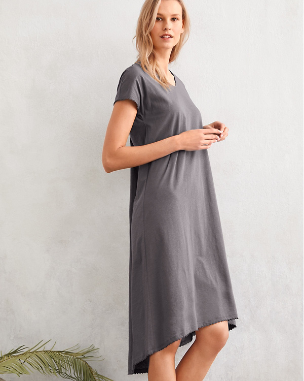 EILEEN FISHER Picot-Trim Knit Gown  e6238cb05