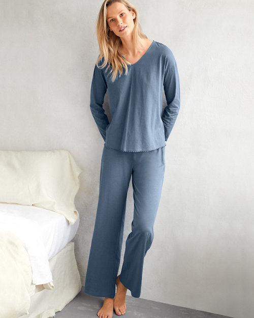 e31a55f1787f EILEEN FISHER Picot-Trim Knit Pajamas