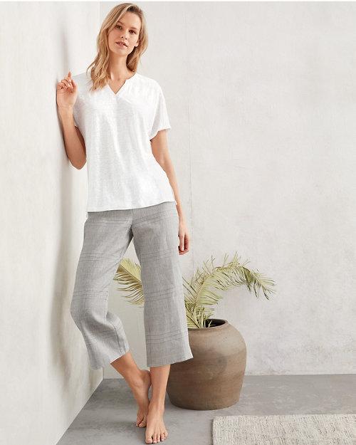f50cbe3021 EILEEN FISHER Organic-Linen Split-Neck Pajamas