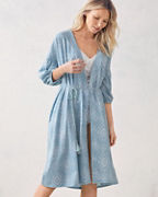 Bohemian Bishop-Sleeve Knit Robe