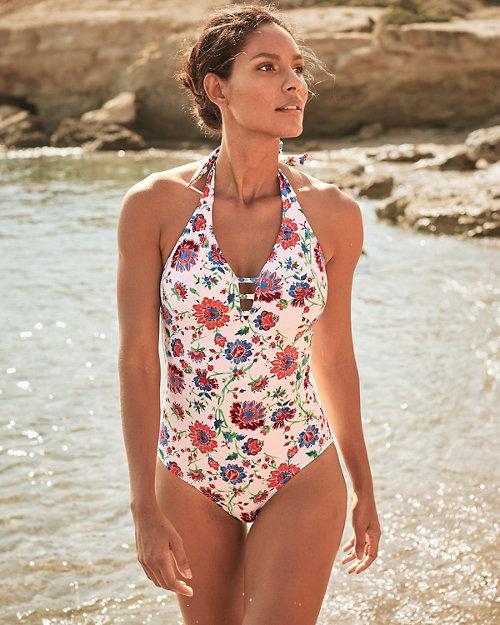 fff0cb0b9fa8a Garnet Hill Signature Lattice One-Piece Swimsuit