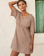 Organic-Cotton Embroidered Cover-Up