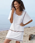 Organic-Linen Jersey Embroidered Cover-Up