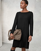 EILEEN FISHER Fine TENCEL™-Jersey Bell-Sleeve Dress