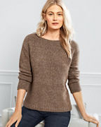 EILEEN FISHER Baby Alpaca & Organic Cotton Bateau-Neck Sweater