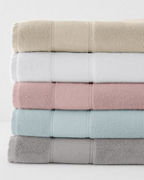 Organic-Cotton Linen-Trimmed Towels