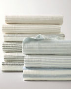 Linen Stripe Bedding and Pillow Cover