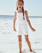 Girls' Knit Ruffle Romper Cover-Up