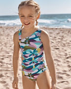 Girls' Wave Rider Cutout One-Piece Swimsuit