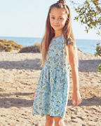 Girls' Organic-Cotton Pocket-Detail Dress