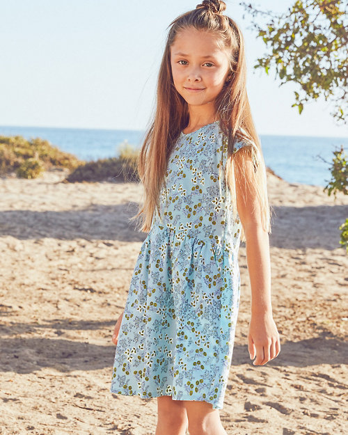 81fc08ae21f Girls  Organic-Cotton Pocket-Detail Dress