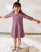 Girls' Asymmetrical Knit Dress
