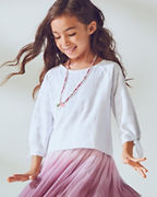 Girls' Textured Raglan Tee