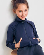 Girls' Ruffle Knit Bomber Jacket