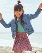 Girls' Embroidered Quilted Jacket