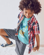 Boys' Short-Sleeve Woven Top
