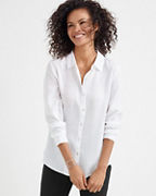 EILEEN FISHER Drapey TENCEL™ Collared Shirt