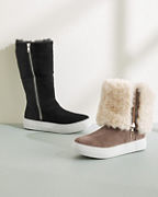 J/Slides Faux-Fur Zip Boots