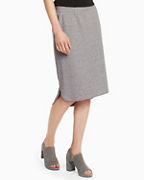 EILEEN FISHER Organic-Cotton Speckled Knit Skirt