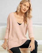 EILEEN FISHER Cashmere & Silk Bouclé V-Neck Sweater