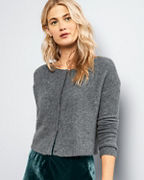 EILEEN FISHER Cashmere & Silk Bouclé Short Cardigan