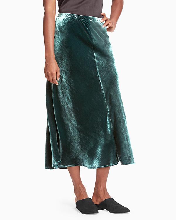 d3abd03ea50726 EILEEN FISHER Velvet Midi Skirt   Garnet Hill