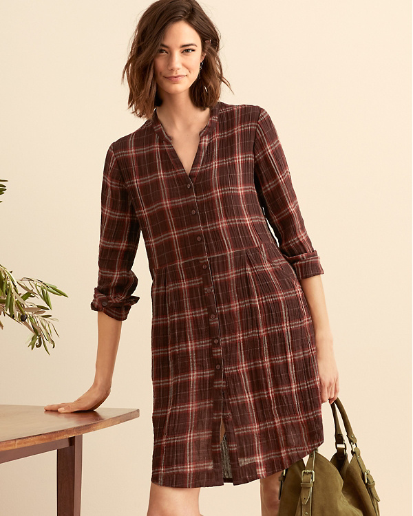 691fc854cda Gauze Shirtdress