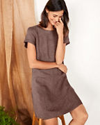 Linen Dropwaist Dress