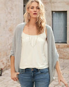 Cashmere Pointelle Cocoon Cardigan